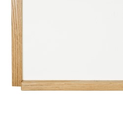 Porcelain Steel Magnetic Dry Erase Board w/ Wood Frame - Tray