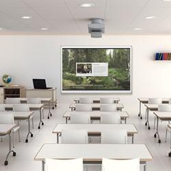 Interactive Projector Board w/ Brio Tim - Standard White Gloss (6' W x 4' H)