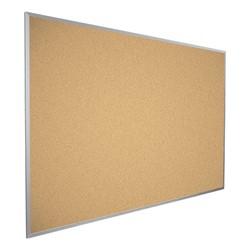 Valu-Tak Natural Cork Bulletin Board w/ Aluminum Frame