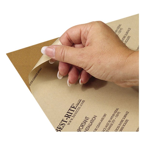 Natural Cork Sheet w/ Adhesive Back - Peel-and-stick adhesive backing