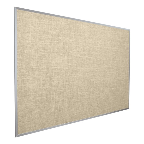 Vinyl-Covered Tackboard - Shown in cotton