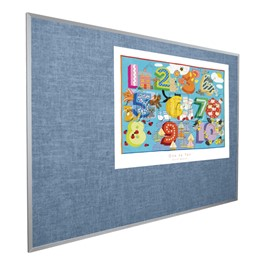 Vinyl-Covered Tackboard - Shown in pacific blue