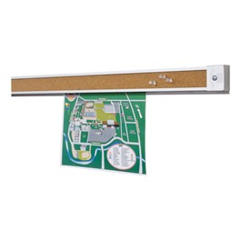 Combination Tackless & Tackable Bulletin Bars<br>Hardware not included