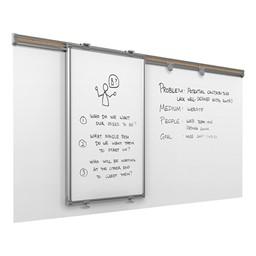Whiteboard Track System w/ Sliding & Base Panels