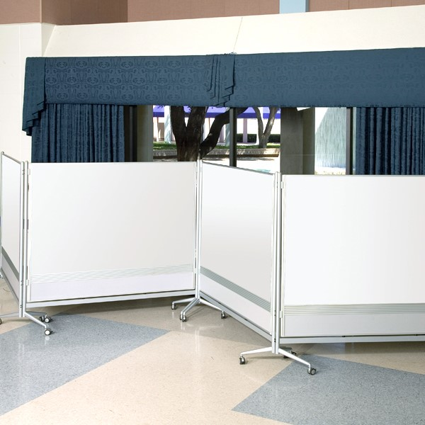 Double-Sided Porcelain Markerboard Partition - Multiple Units