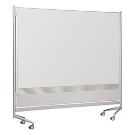 Double-Sided Porcelain Markerboard Partition