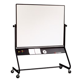 Double-Sided Projection Plus Markerboard w/ Black Tubular Steel Frame