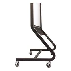 Projection Plus/Porcelain Steel Easel w/ Black Tubular Steel Frame