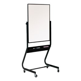 Double-Sided Magnetic Markerboard w/ Black Tubular Steel Frame