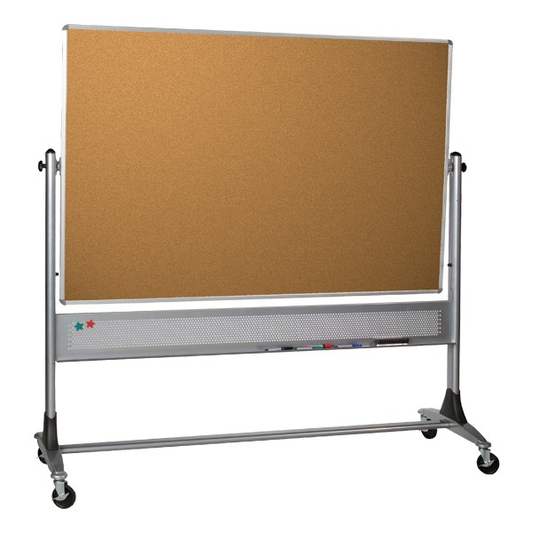 Platinum Series Magnetic Markerboard/Corkboard w/ Aluminum Frame