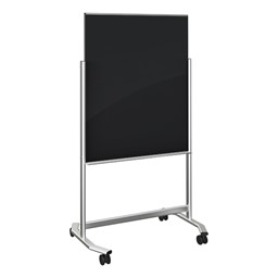 Visionary Mobile Magnetic Glass Markerboard - Black