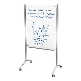 Enlighten Mobile Glass Markerboard