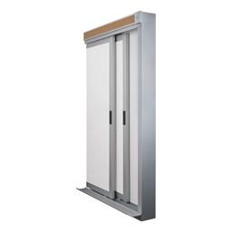 Horizontal Sliding Dry Erase Board w/ Two Panels