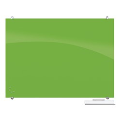 Visionary Colors Magnetic Glass Dry Erase Markerboard (4' W x 3' H) - Green