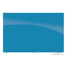 Visionary Colors Magnetic Glass Dry Erase Markerboard - Blue