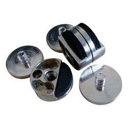 Brushed metal hardware