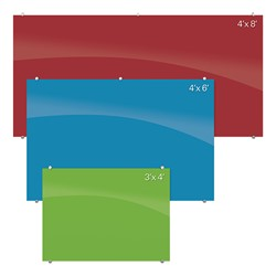 Visionary Colors Magnetic Glass Dry Erase Markerboard - Sizes