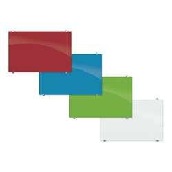 Visionary Colors Magnetic Glass Dry Erase Markerboard (6' W x 4' H)