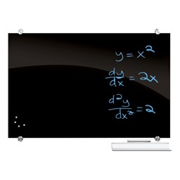 Visionary Black Glass Magnetic Markerboard