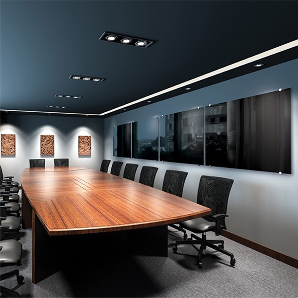 Visionary Black Glass Markerboard