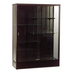 Elite Freestanding Display Case<br>Shown in black