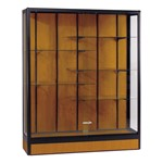 Elite Freestanding Display Case<br>Shown in oak