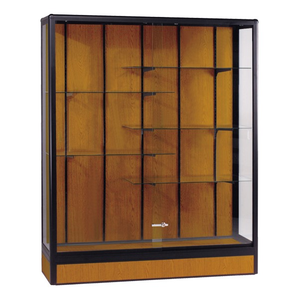 Elite Freestanding Display Case<br>Shown in oak