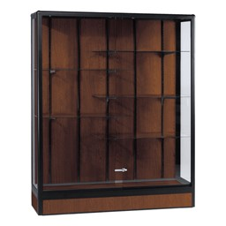 Elite Freestanding Display Case<br>Shown in walnut