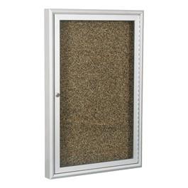 Enclosed Rubber-Tak Tackboard w/ One Door