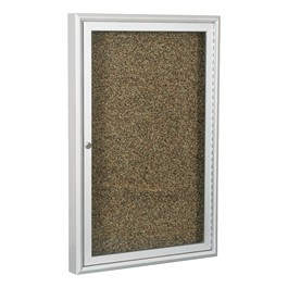 Enclosed Rubber-Tak Tackboard w/ One Door