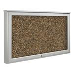 Weather Sentinel Outdoor Enclosed Rubber-Tak Tackboard w/ One Door