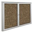 Weather Sentinel Outdoor Enclosed Rubber-Tak Tackboard w/ Two Doors
