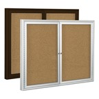 Outdoor/Indoor Enclosed Bulletin Board w/ Two Doors