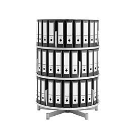 Binder Carousel Shelving w/ Floor Base - Three Tier