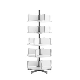 Binder Carousel Shelving w/ Floor Base - Five Tier