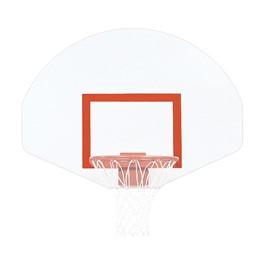 Fan-Shaped Steel Backboard w/ hoop & net