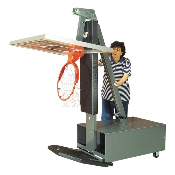 Acrylic Backboard Portable/Adjustable Basketball System - (Shown folded for storage)