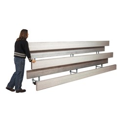 Easy Store Indoor Bleachers - on mobile casters