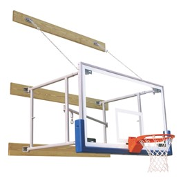 Side-Fold Wall-Mount Rectangle Glass Basketball System