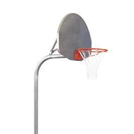 Tough-Duty Playground Basketball System w/ Aluminum Backboard