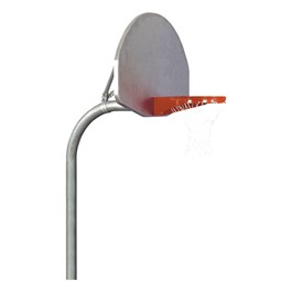 Heavy-Duty Playground Basketball Hoop w/ Aluminum Fan Backboard