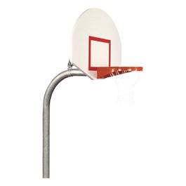 Heavy-Duty Playground Basketball Hoop w/ Steel Backboard
