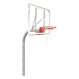 Heavy-Duty Playground Basketball Hoop w/ Unbreakable Polycarbonate  Backboard