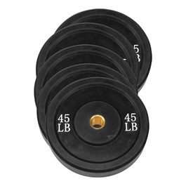 Rubber Olympic Bumper Plate Set (Black)