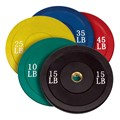 Rubber Olympic Bumper Plate Set - 260 lbs