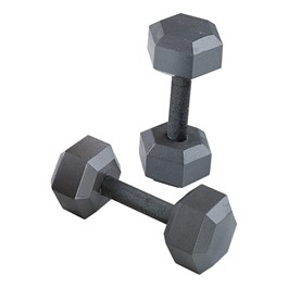 Grey Cast Hex Dumbbell Set
