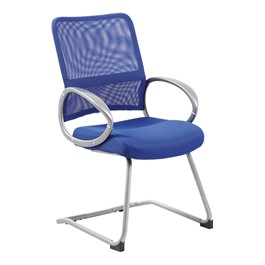 Colorful Mesh Cantilever Guest Chair - Blue