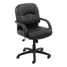 CaressoftPlus Executive Chair w/ Arch Stitching - Mid Back