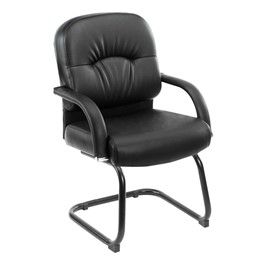 Caressoft Executive Guest Chair w/ Arch Stitching