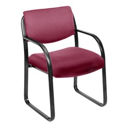 Fabric Guest Chair - Burgundy